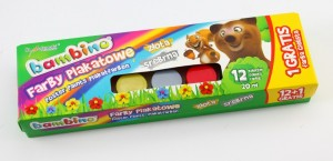 Farby Plakatowe Bambino 12 Kolorow 20ml