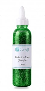 Brokat w kleju 120ml Dark Green Zielony DpCraft