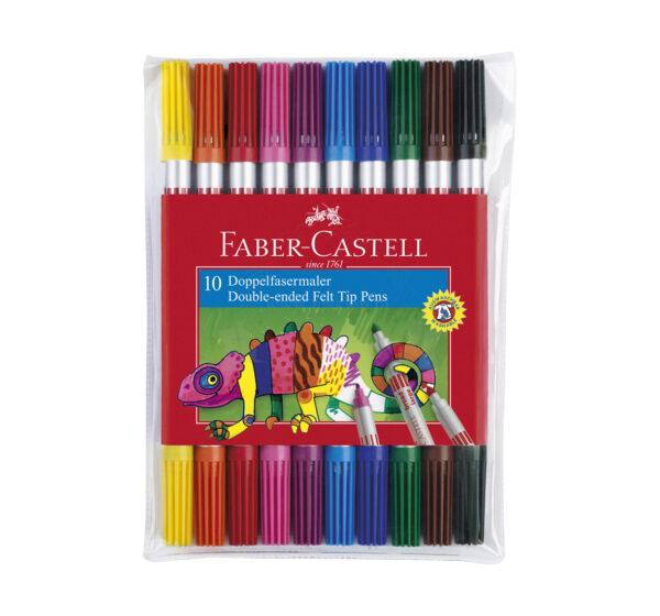 Faber-Castell Flamastry 10kol. dwustronne w etui