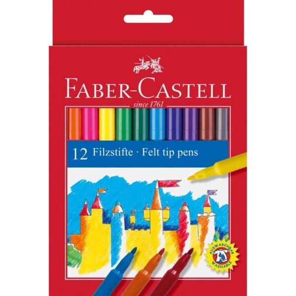 Faber-Castell Flamastry 12kol. Zamek