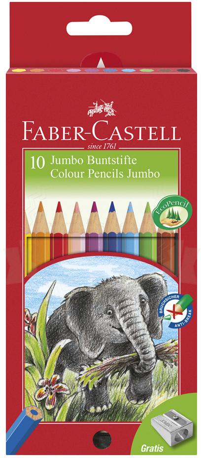 Faber-Castell Kredki 10kol. Jumbo FC111210