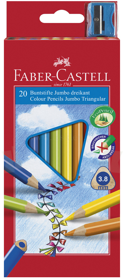 Faber-Castell Kredki 20kol. trojkątne Junior Grip