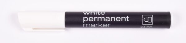 KIN Marker permanentny 3315 Biały 2,5mm