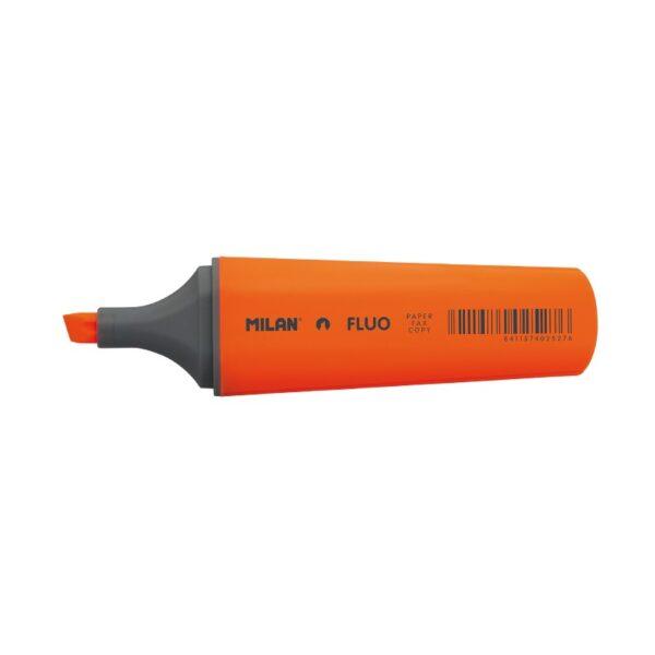 Zakreślacz Milan Fluo Płaski Pomarańczowy 80038