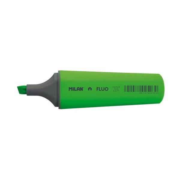 Zakreślacz Milan Fluo Płaski Zielony 80037